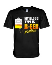 My Blood Type V-Neck T-Shirt thumbnail