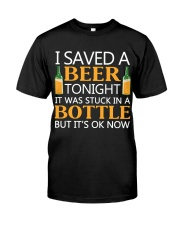 Saved A Beer Classic T-Shirt front