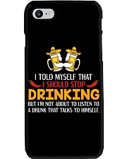 A Drunk Talks To Himself Phone Case thumbnail
