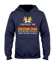 A Drunk Talks To Himself Hooded Sweatshirt thumbnail