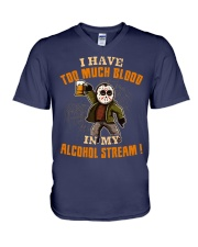 Too Much Blood In My Alcohol Stream V-Neck T-Shirt thumbnail