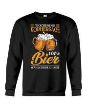Wochenend Vorhersage Bier Crewneck Sweatshirt thumbnail