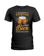 Wochenend Vorhersage Bier Ladies T-Shirt thumbnail