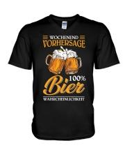 Wochenend Vorhersage Bier V-Neck T-Shirt thumbnail
