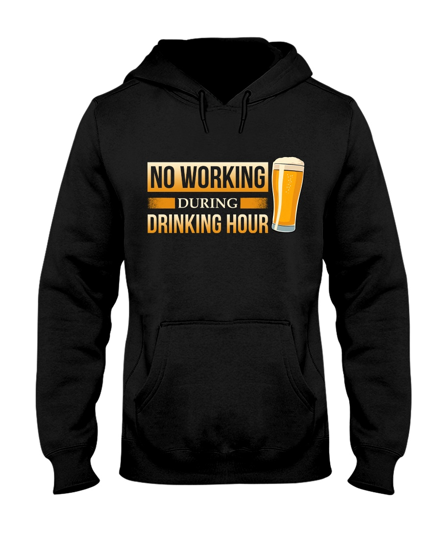No Working Hooded Sweatshirt
