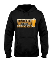 No Working Hooded Sweatshirt front