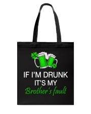 My Brother Fault Tote Bag thumbnail