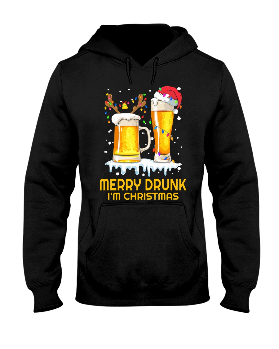 Merry Drunk Hooded Sweatshirt