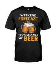 Weekend Forecast Classic T-Shirt front