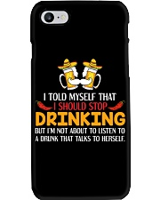 A Drunk Talks To Herself Phone Case thumbnail
