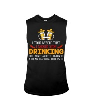 A Drunk Talks To Herself Sleeveless Tee thumbnail