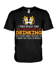 A Drunk Talks To Herself V-Neck T-Shirt thumbnail