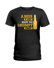 Keeps The Grumpy Away Ladies T-Shirt thumbnail