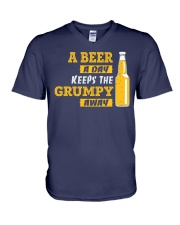 Keeps The Grumpy Away V-Neck T-Shirt thumbnail