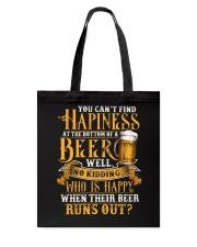 Beer Runs Out Tote Bag thumbnail