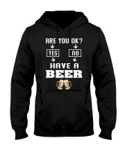 Are You Ok Hooded Sweatshirt front