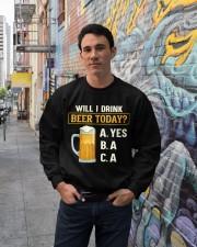 Drink Beer Today Crewneck Sweatshirt lifestyle-unisex-sweatshirt-front-2