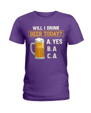 Drink Beer Today Ladies T-Shirt thumbnail