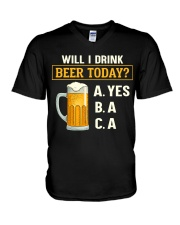 Drink Beer Today V-Neck T-Shirt thumbnail