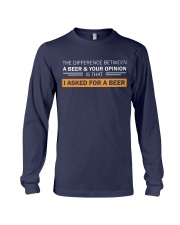 Ask For A Beer Long Sleeve Tee thumbnail