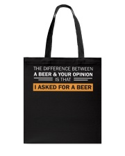 Ask For A Beer Tote Bag thumbnail