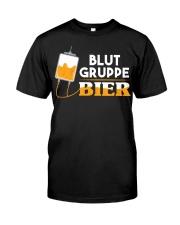 Blut Gruppe Bier Classic T-Shirt front