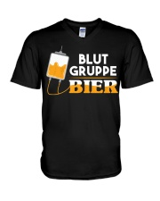 Blut Gruppe Bier V-Neck T-Shirt thumbnail