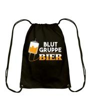 Blut Gruppe Bier Drawstring Bag thumbnail