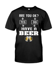 Are You Ok Classic T-Shirt front
