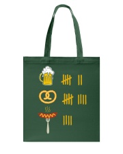 Beer Pretzel Sausage Tote Bag tile