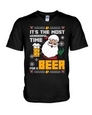 Wonderful Time For Beer V-Neck T-Shirt thumbnail