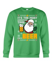 Wonderful Time For Beer Crewneck Sweatshirt front