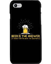 Beer Is The Answer Phone Case thumbnail