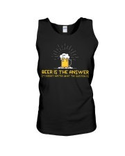 Beer Is The Answer Unisex Tank thumbnail