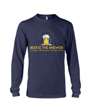 Beer Is The Answer Long Sleeve Tee thumbnail