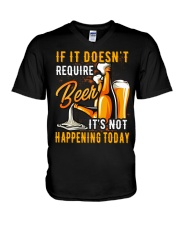 Require Beer V-Neck T-Shirt thumbnail