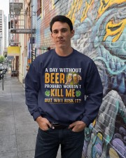 Without Beer Crewneck Sweatshirt lifestyle-unisex-sweatshirt-front-2
