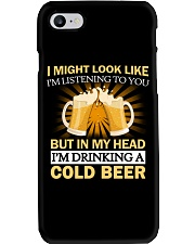 Drinking A Cold Beer Phone Case thumbnail