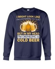 Drinking A Cold Beer Crewneck Sweatshirt thumbnail