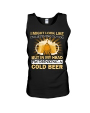 Drinking A Cold Beer Unisex Tank thumbnail