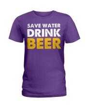 Save Water Drink Beer Ladies T-Shirt thumbnail