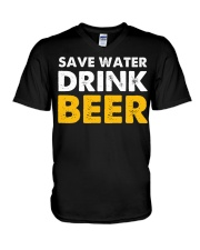 Save Water Drink Beer V-Neck T-Shirt thumbnail