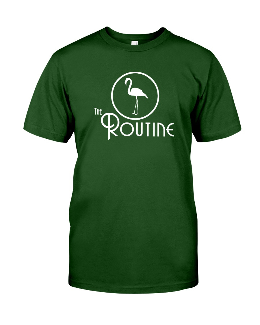 The Routine - Classic White Flamingo Collection Classic T-Shirt