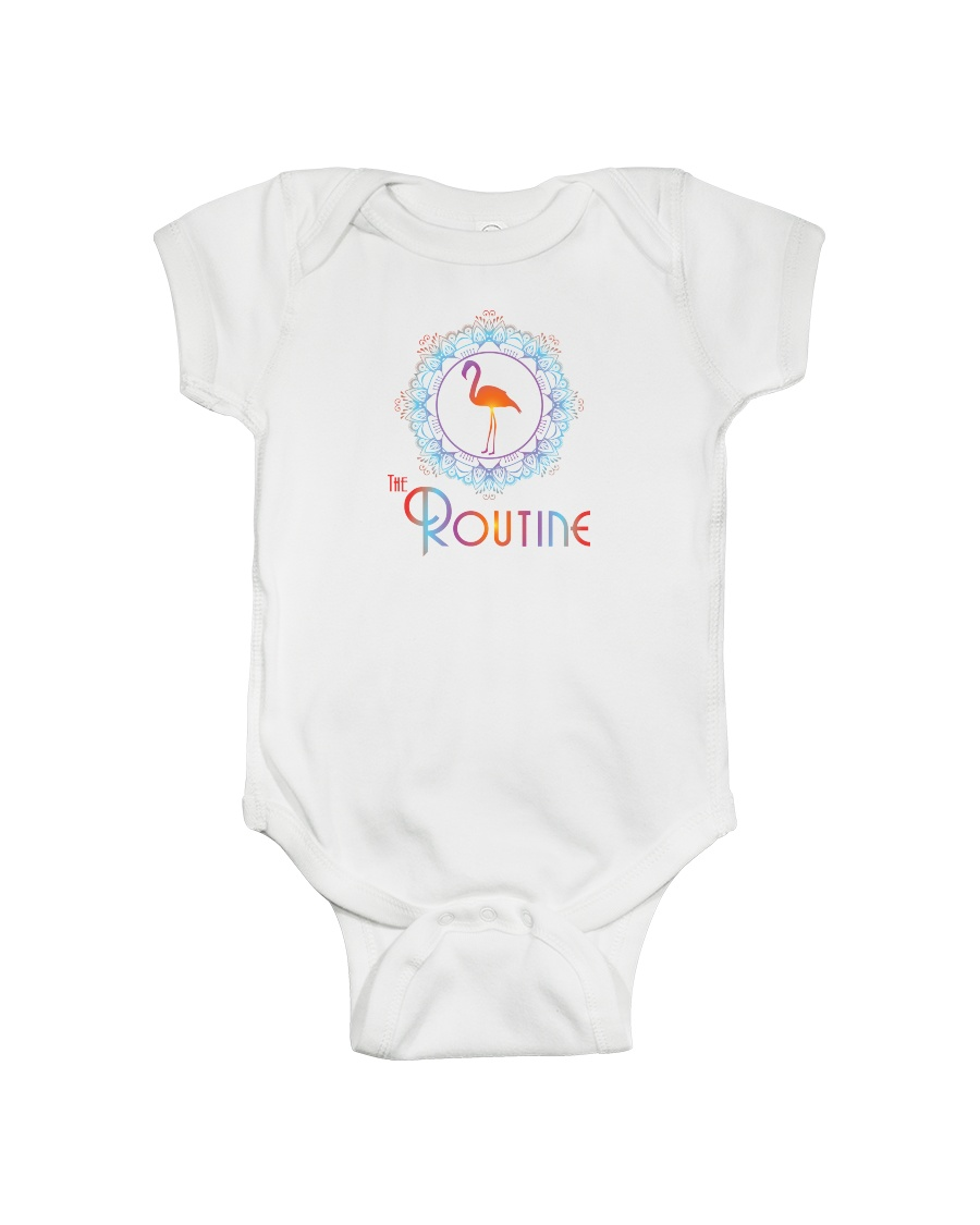 The Routine - Mandala Flamingo Collection Onesie