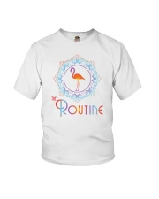 The Routine - Mandala Flamingo Collection Youth T-Shirt front