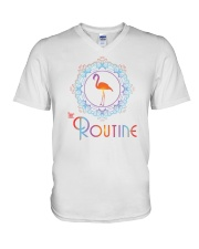 The Routine - Mandala Flamingo Collection V-Neck T-Shirt front
