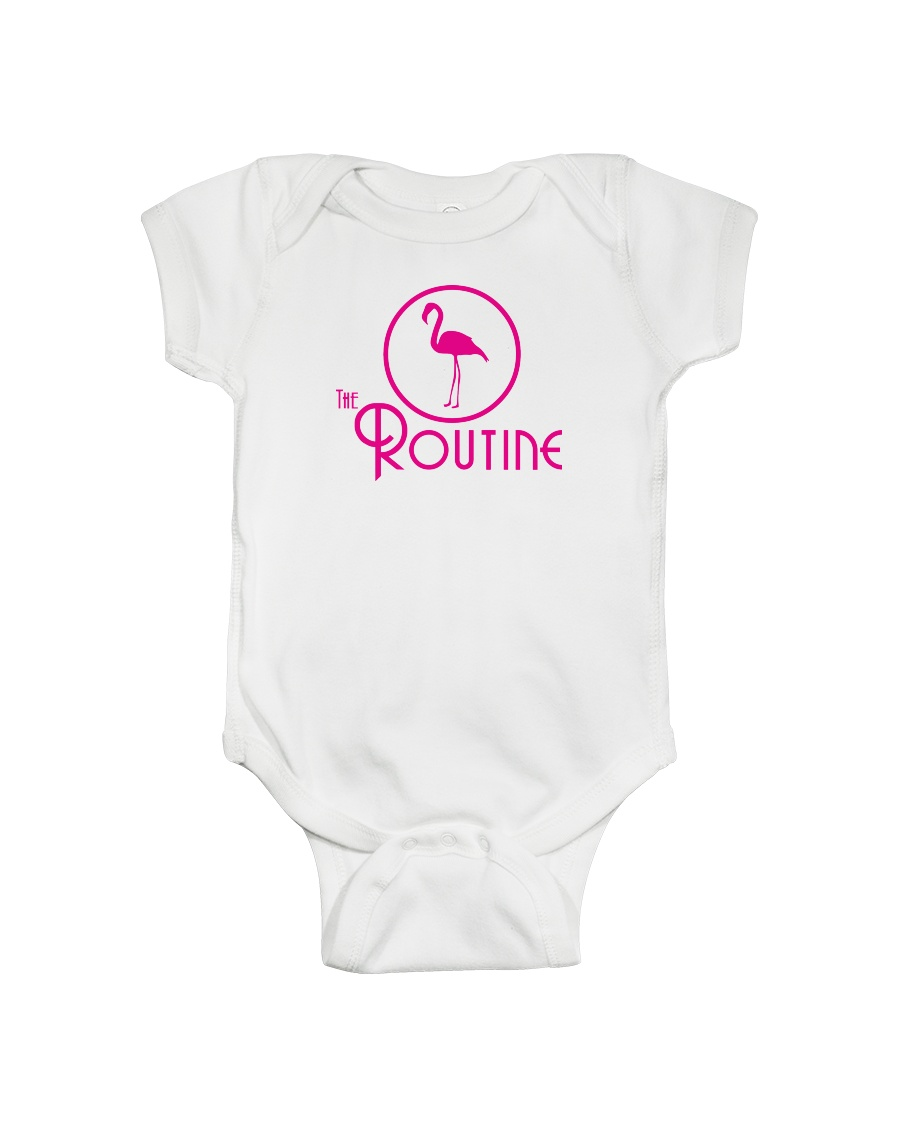 The Routine - Classic Pink Flamingo Collection Onesie