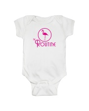 The Routine - Classic Pink Flamingo Collection Onesie thumbnail