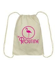 The Routine - Classic Pink Flamingo Collection Drawstring Bag thumbnail