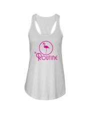 The Routine - Classic Pink Flamingo Collection Ladies Flowy Tank thumbnail